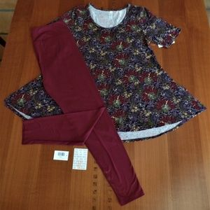 LULAROE OUTFIT! M- PERFECT-T TOP & TC- LEGGINGS